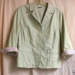 Celery Green Rockabilly Jacket w/ self covered but